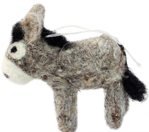 grauer Esel, Anhänger aus Filz