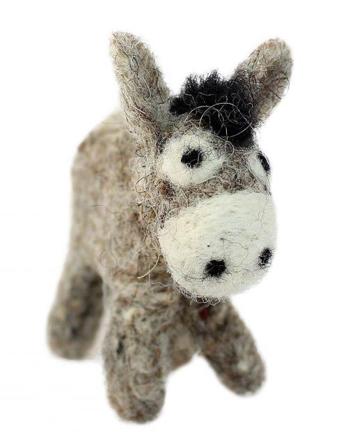 grauer Esel, Anhänger aus Filz 7