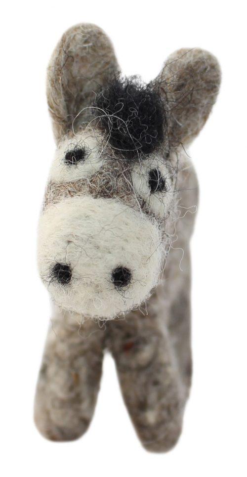 grauer Esel, Anhänger aus Filz 3