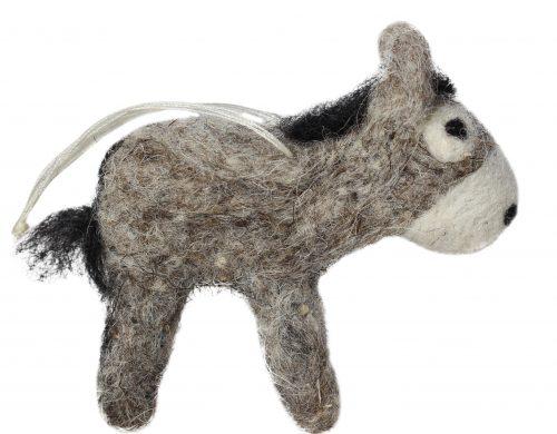grauer Esel, Anhänger aus Filz 2