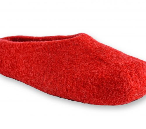 filzhausschuhe rot handgemacht