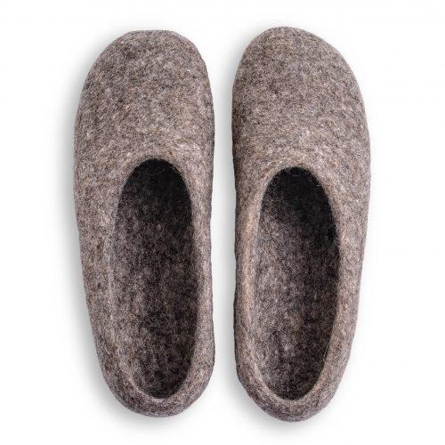 pantoffeln aus wolle grau handgemacht 6