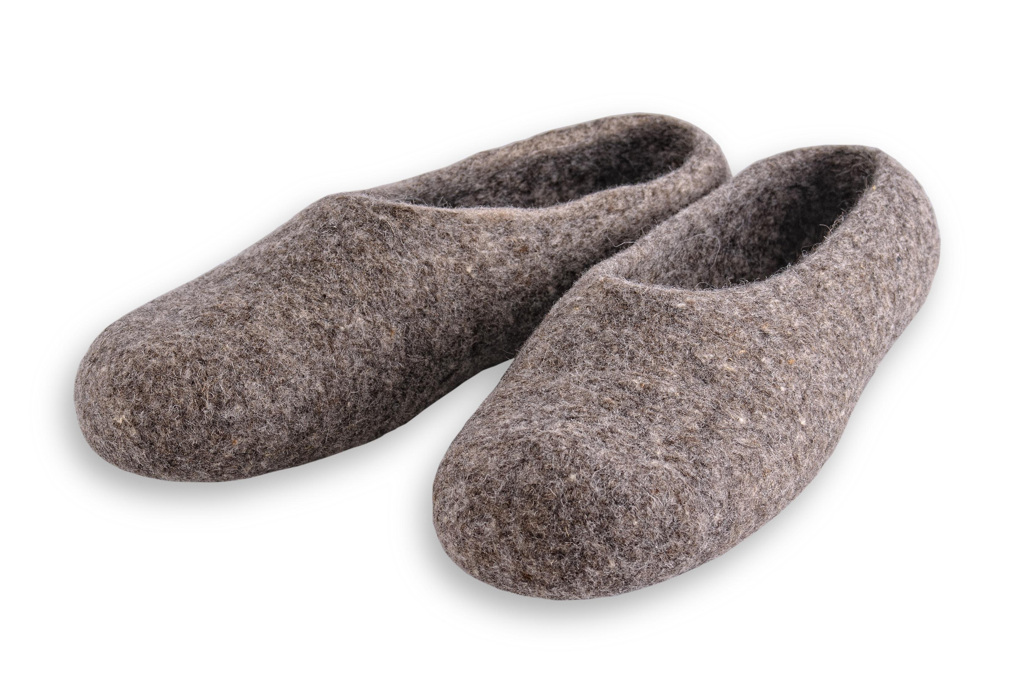 Filz Hausschuhe .sohle aus Gummi Noppen oder Filz 166 Herren Filz Pantoffeln