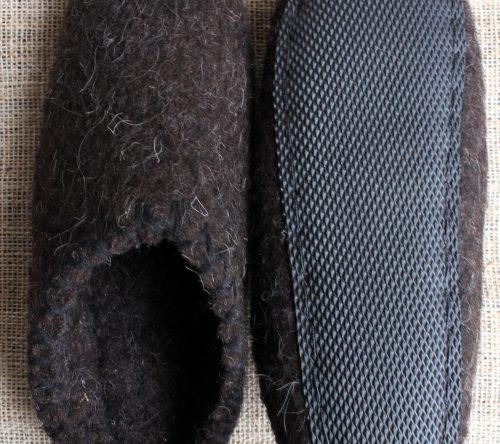 Handgemachte filzschuhe aus schafwolle 1