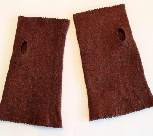 fingerlose handschuhe braun mit daumenloch