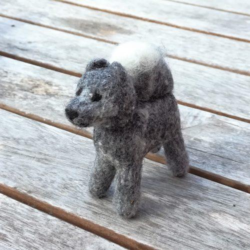 Dekofigur Hund handgemacht